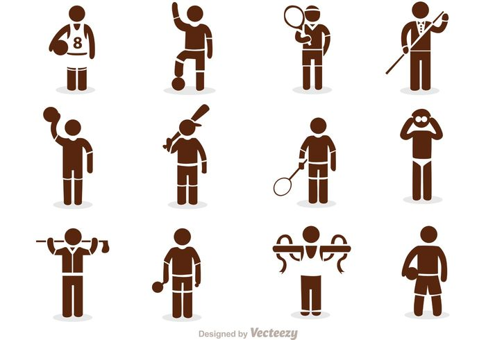 700x490 Sport Stick Figure Icons Vector Pack Free Icon Packs Ui Download