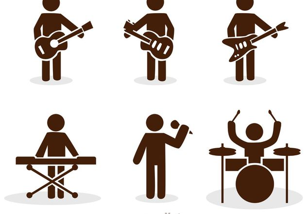 632x442 Band Stick Figure Icons Vector Pack Free Vector Download 142553