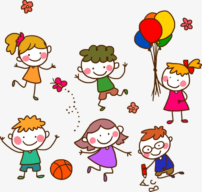 650x618 Children Stick Figure Vector, Balloon, Children, Play Png And