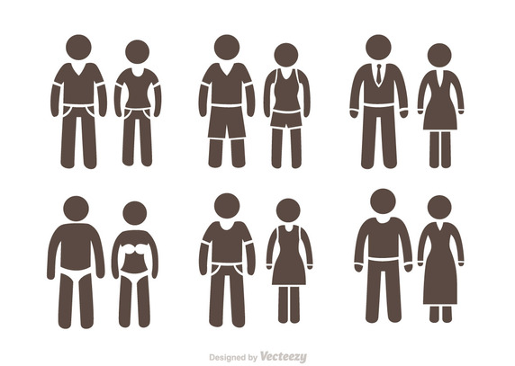 572x407 Couple Stick Figure Icons Pack Vector Free Vector Download In
