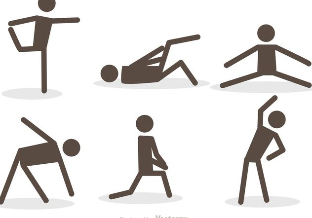 632x442 Workout Stick Figure Icons Vector Pack Free Vector Download 139135