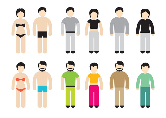 572x407 Colorful Stick Figure Vector Free Vector Download In .ai, .eps