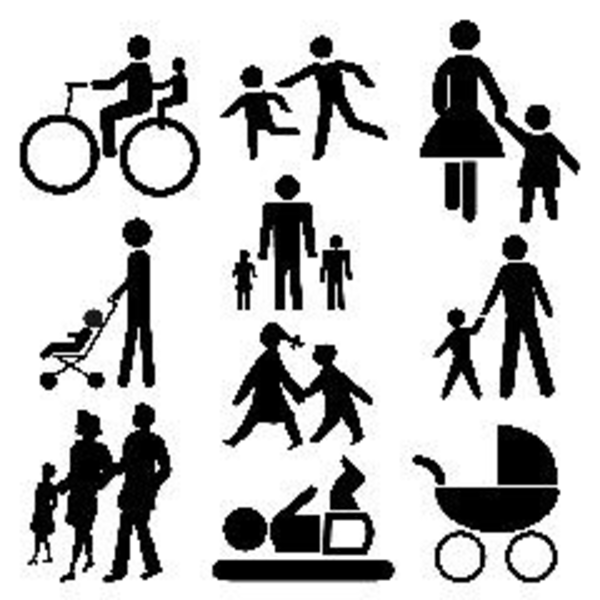 600x600 Stick People Family Image