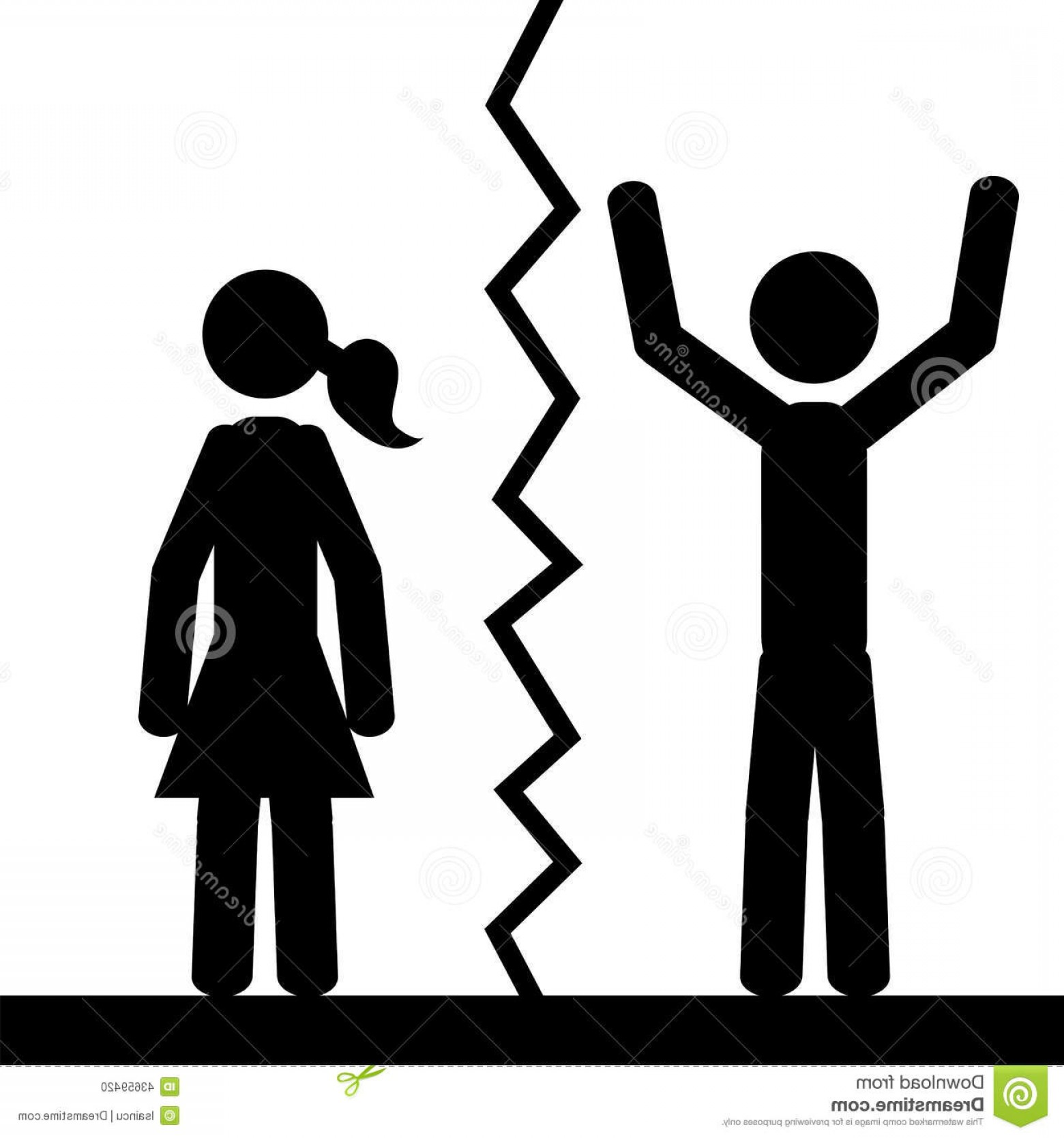 1560x1668 Stock Illustration Happy Man Two People Separated Stick Figure