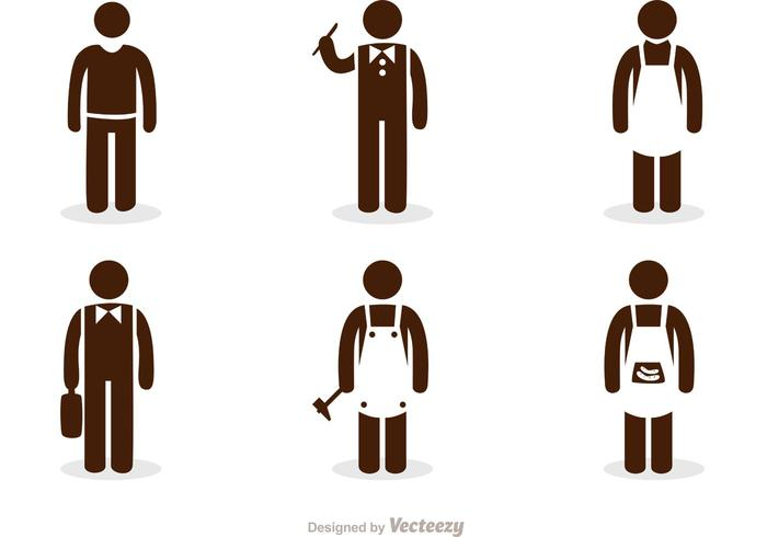 700x490 Work Stick Figure Icons Vector Pack