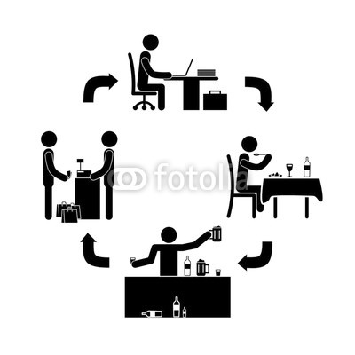 400x400 Stick Figure Vector Life Cycle Expenditure Of A Person Buy