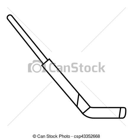 450x470 Hockey Stick Icon, Outline Style. Hockey Stick Icon. Outline