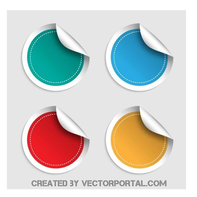 660x660 Peeling Sticker Vector Art. Various Vectors