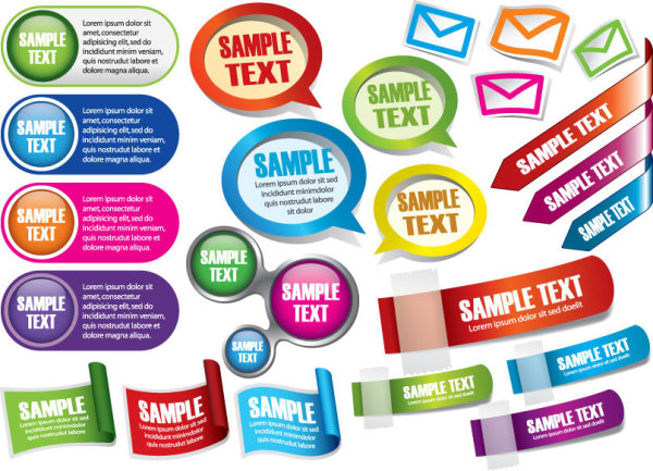 600x433 Common Stickers Vector