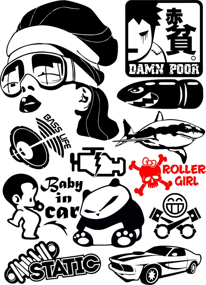 723x1000 Vinyl Stickers Vector Pack Free Vector Download