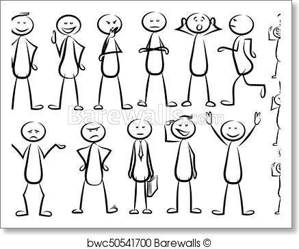 437x364 Art Print Of Stickman Vector Set Barewalls Posters Amp Prints