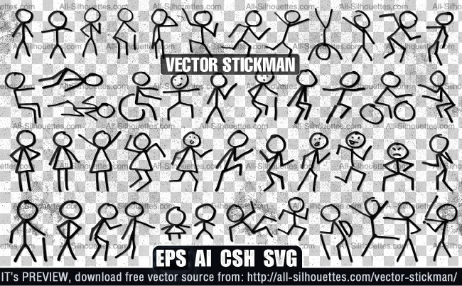 650x402 Vector Stickman Epin Free Graphic And Wallpaper Download