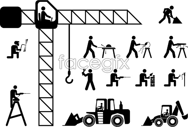 600x407 Construction Worker Stickman Vector Over Millions Vectors, Stock