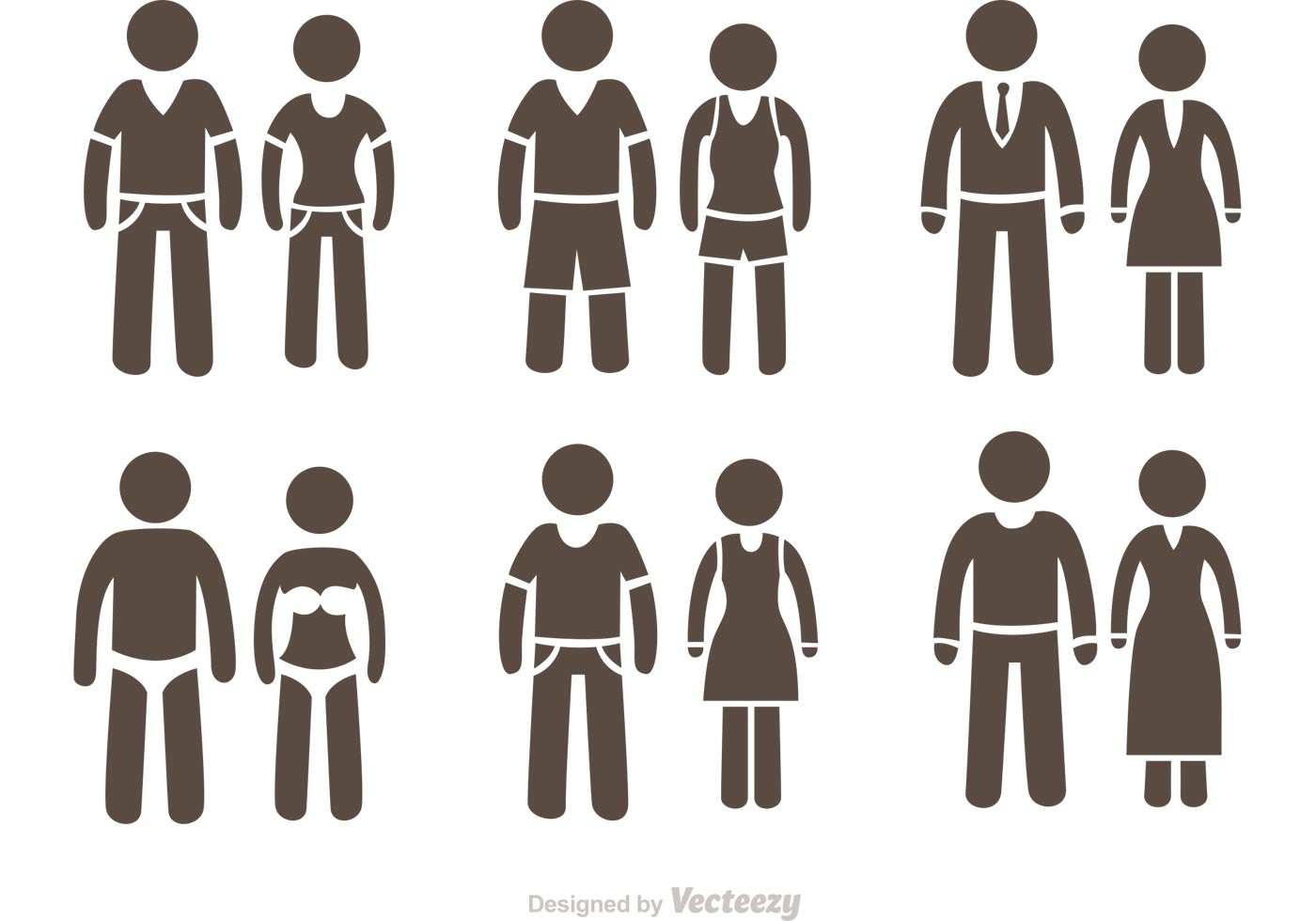 1400x980 Couple Stick Figure Icons Vector Pack