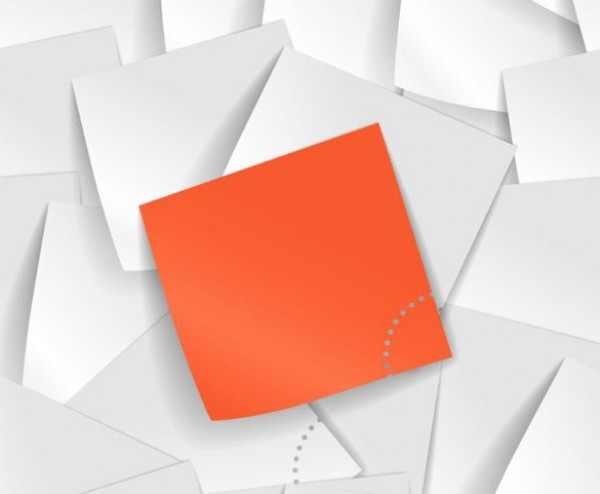 600x494 Pile Of Blank Sticky Notes Vector Background