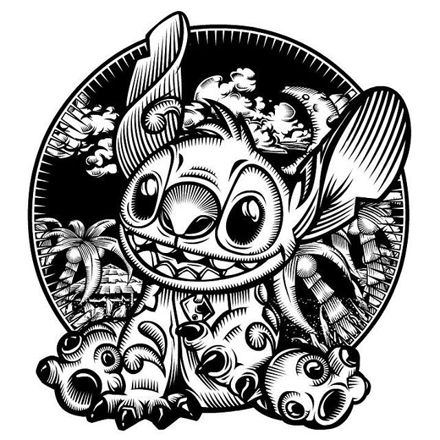 640x640 Image Result For Lilo And Stitch Vector Black And White Disney