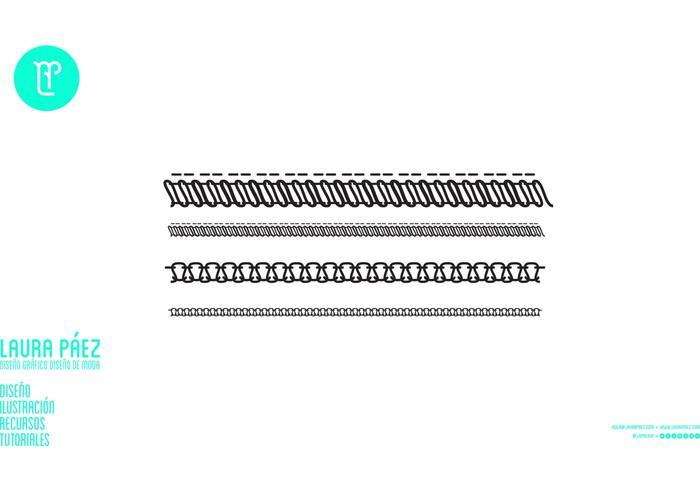 700x490 Overlock Stitch Vectors Free Vector Art