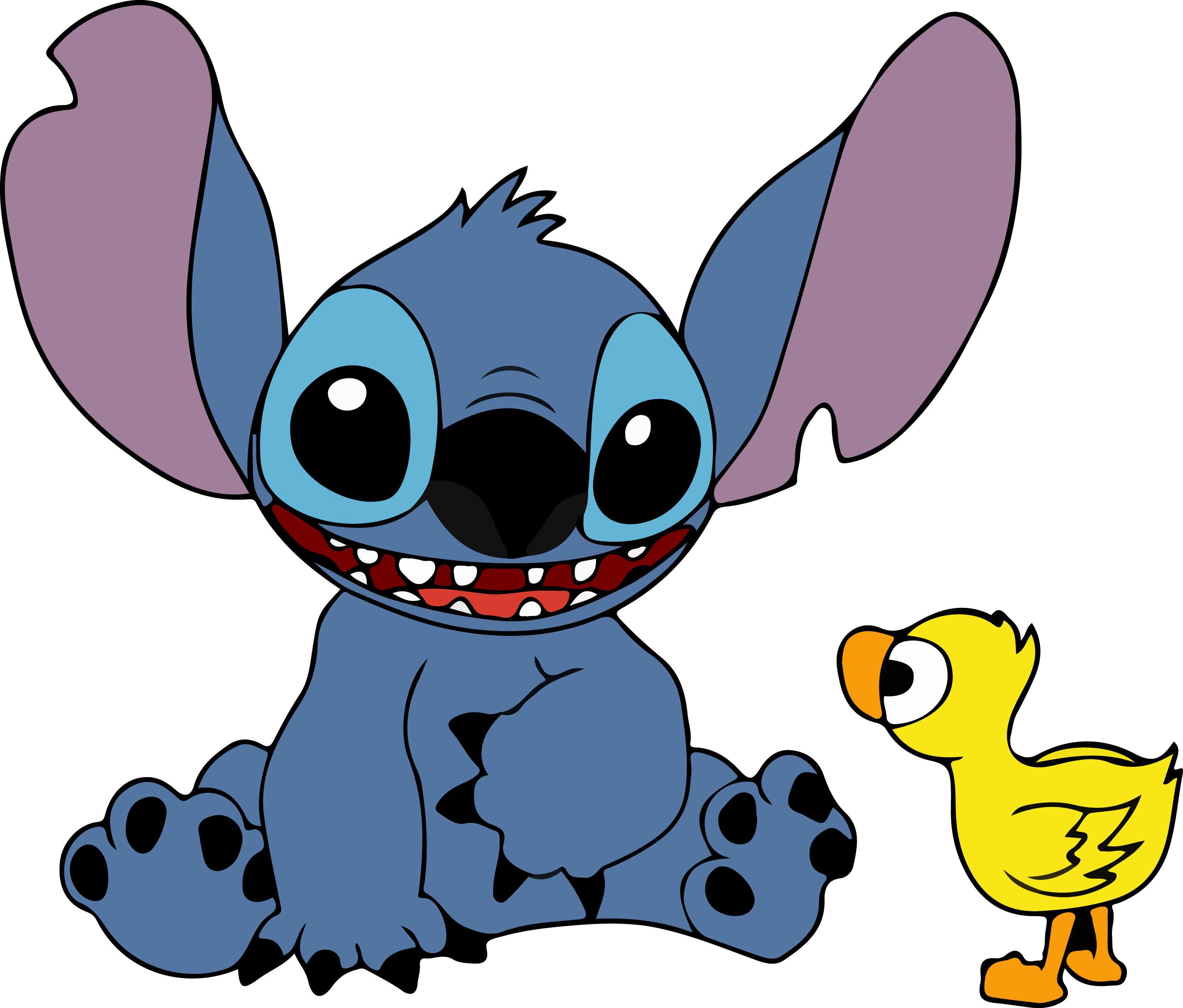 3166x2698 Stitch And Duck Vector By Flightfeatherstudio On Newgrounds