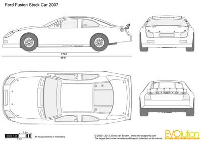400x279 Ford Fusion Stockcar Vector Drawing
