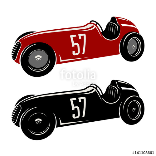 500x500 Racing Car Vector Illustration. Vintage Sport Car Graphic Tee