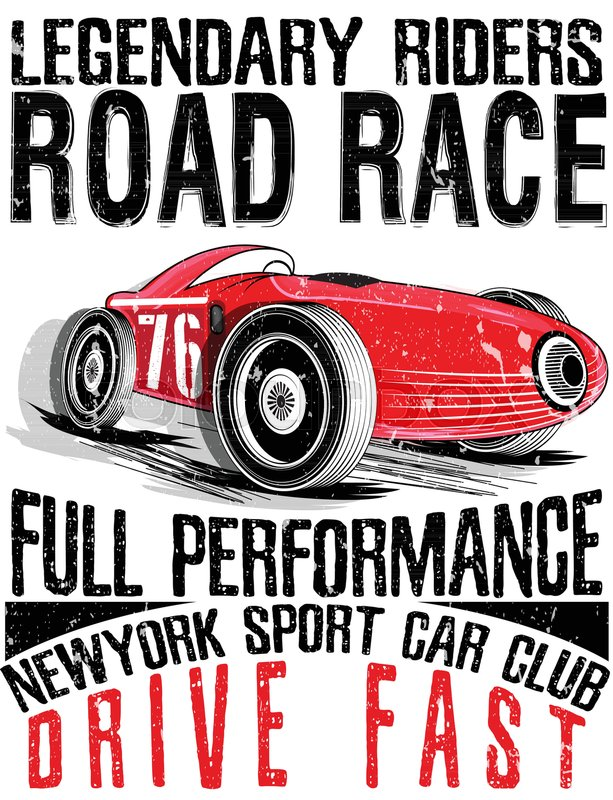 613x800 Sports Car Race. Car For Printing.vector Old School Race Poster