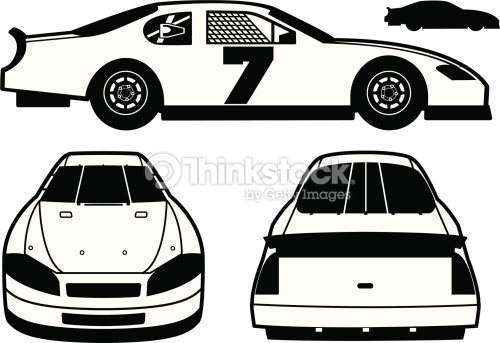500x343 Stock Car Graphic Royalty Free