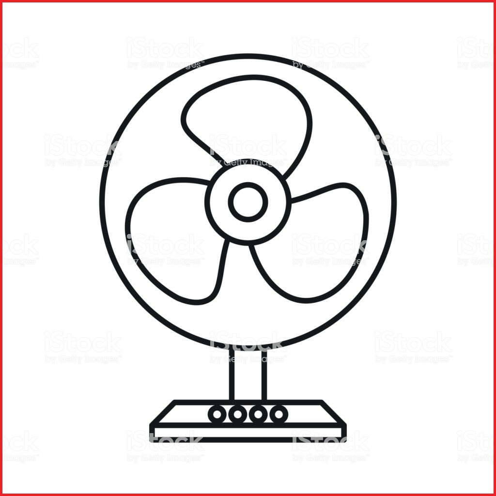 1024x1024 Fan Drawing 167454 Electric Table Fan Icon Outline Style Stock