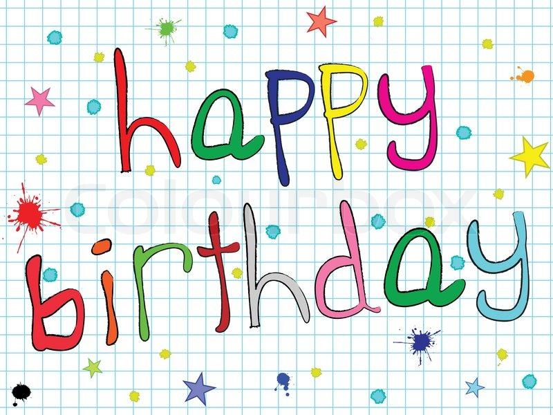 800x600 Happy Birthday Design, Abstract Vector Art Illustration Stock