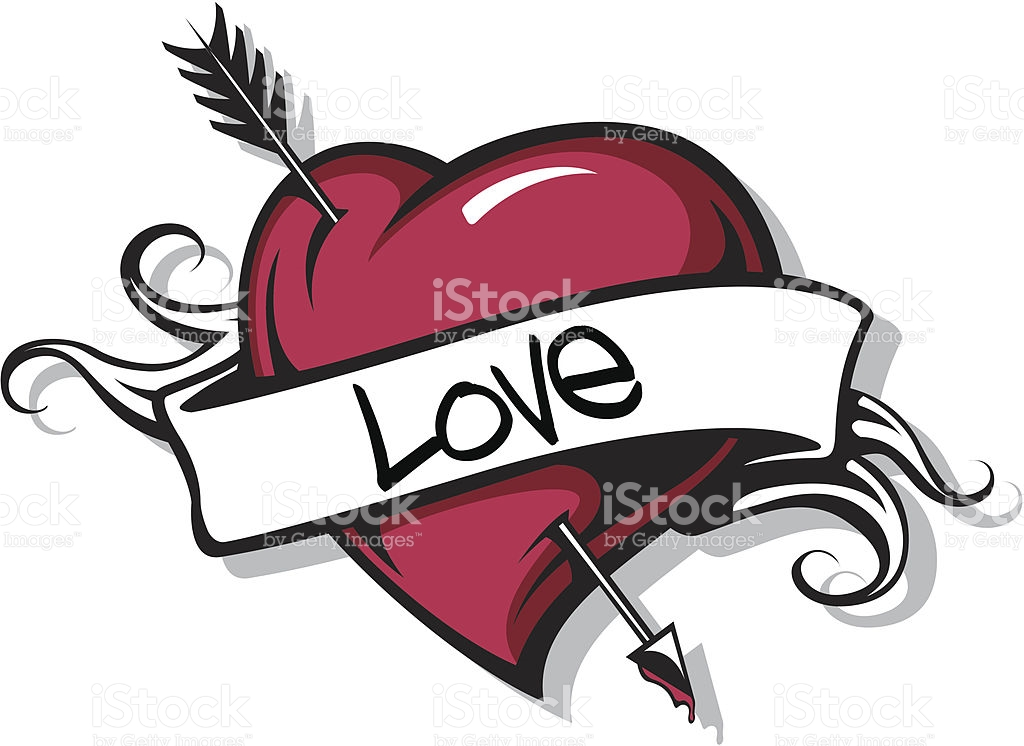 1024x746 Heart With Arrow Svg Free Stock