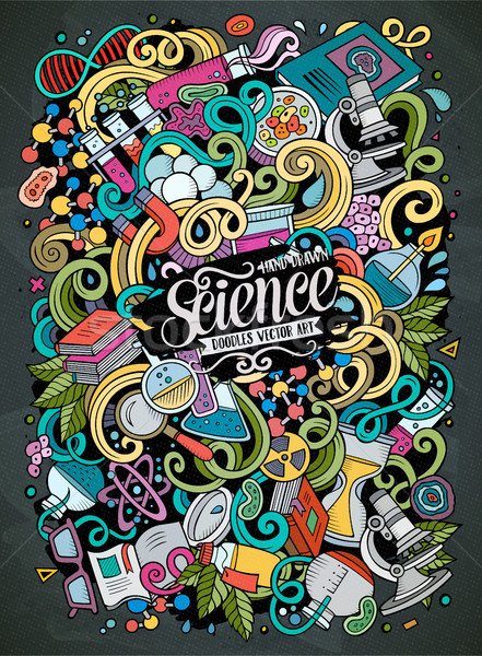 441x600 Cartoon Cute Doodles Science Illustration Vector Illustration