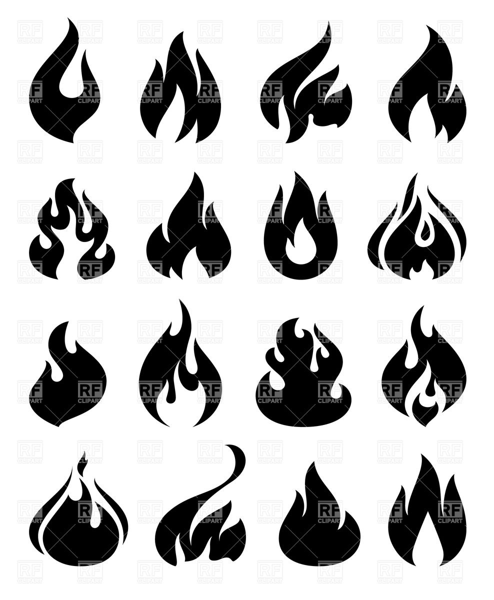 988x1200 Fire And Flame Silhouettes