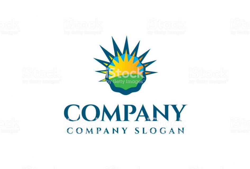 945x641 Logos. Restaurant With Sun Logo Bottle Cap Sun Logo Stock Vector