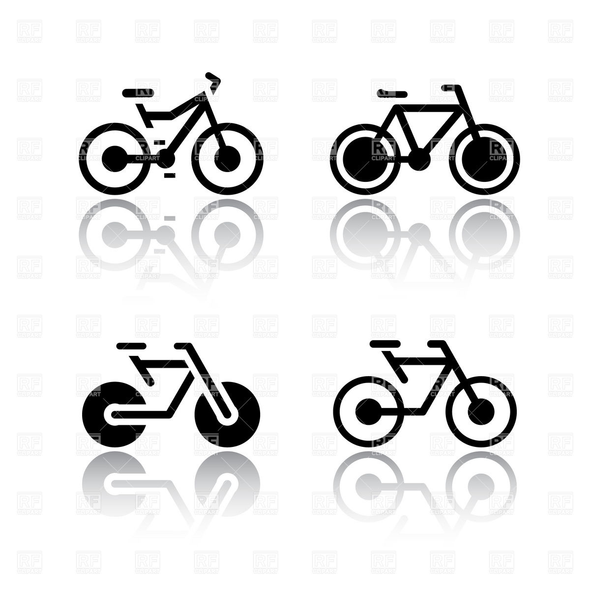 1200x1200 Simple Bicycle Icon Vector Image Vector Artwork Of Signs