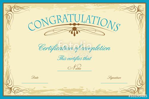 500x334 Coreldraw Certificate Template Certificate Template Stock Image