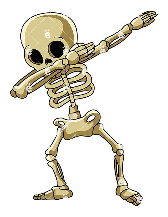 585x755 Dabbing Skeleton Vector Cartoon Clipart In 2018 Vector