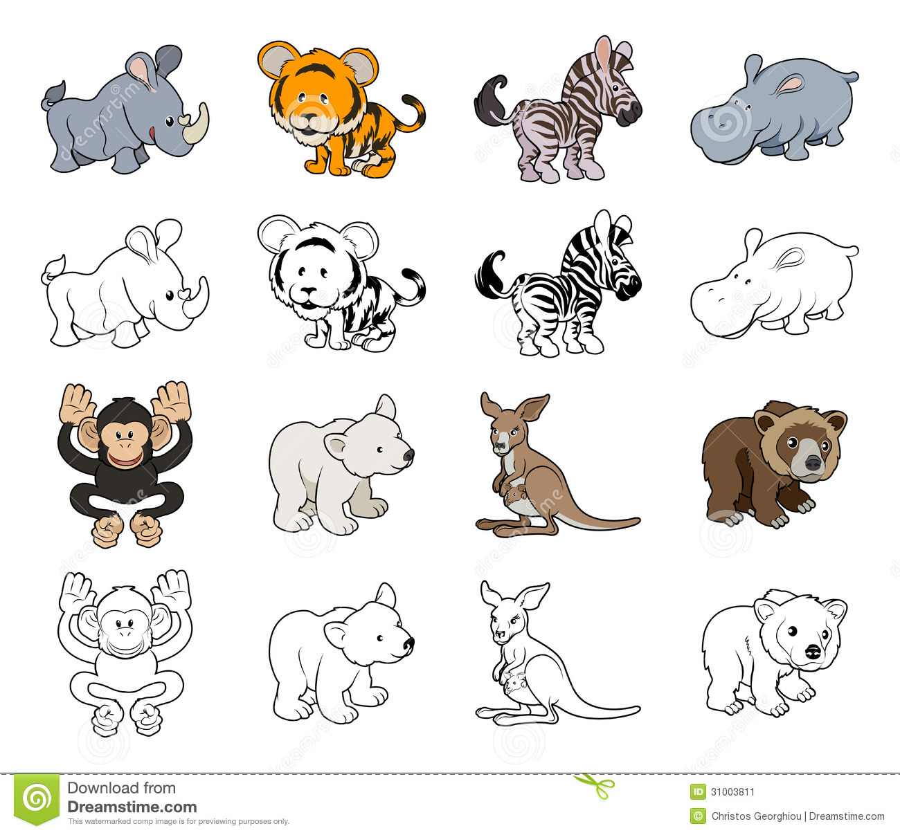 1300x1207 Exciting Cartoon Pictures Of Wild Animals Animal Illustrations