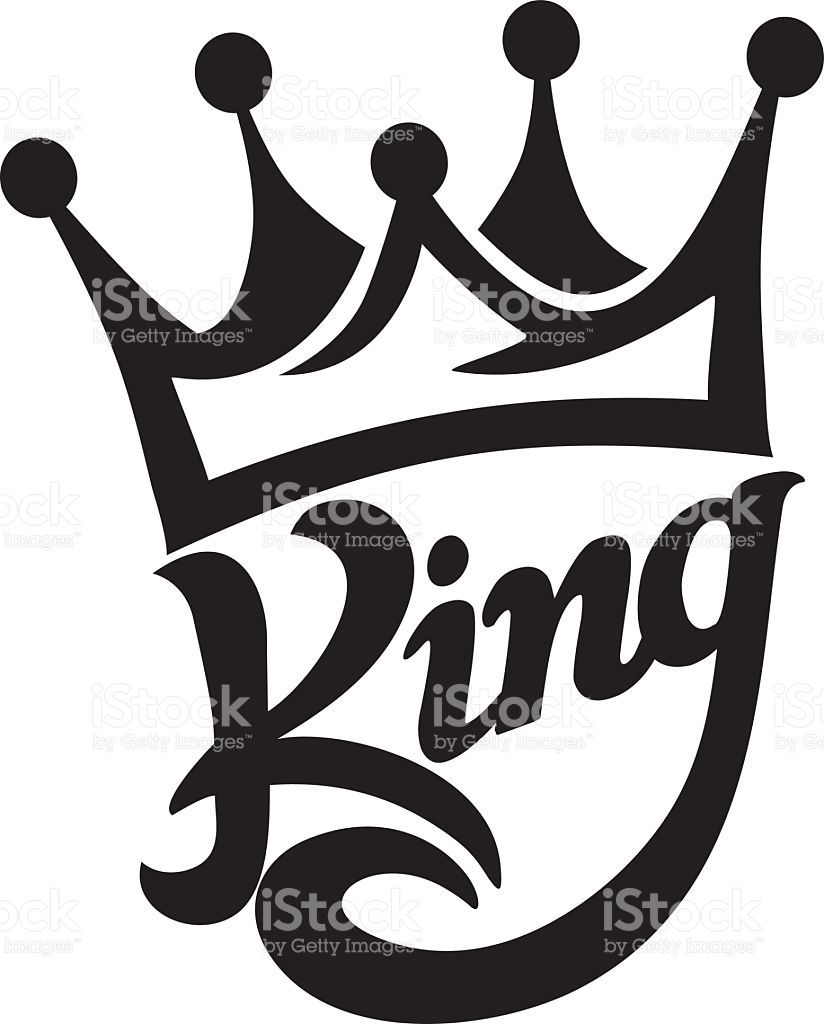 824x1024 Crown King Typography Moda Vector Art, Stenciling