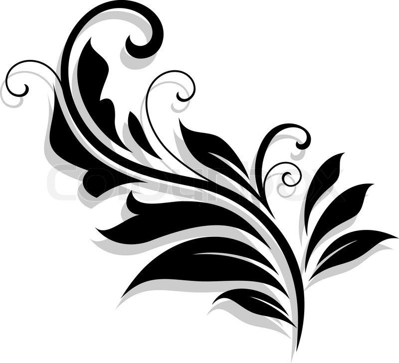 800x728 Decorative Floral Design Element Stock Vector Colourbox