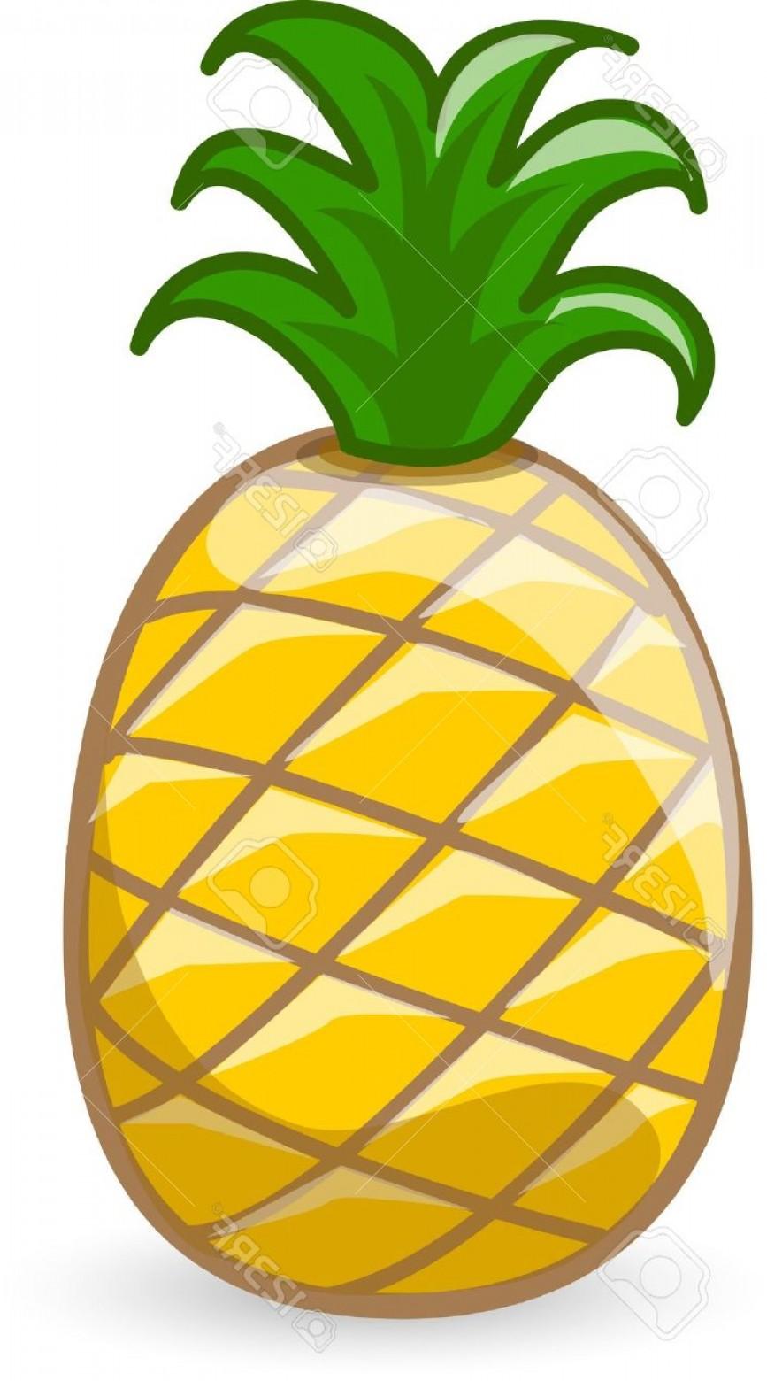 867x1560 File Cartoon Pineapple Stock Vector Fruit Shopatcloth