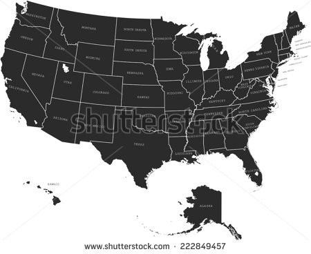 450x368 Stock Vector Usa Map 222849457 In Us Silhouette