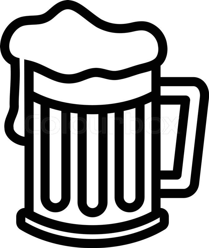 673x800 Beer Mug Vector Icon Stock Vector Colourbox