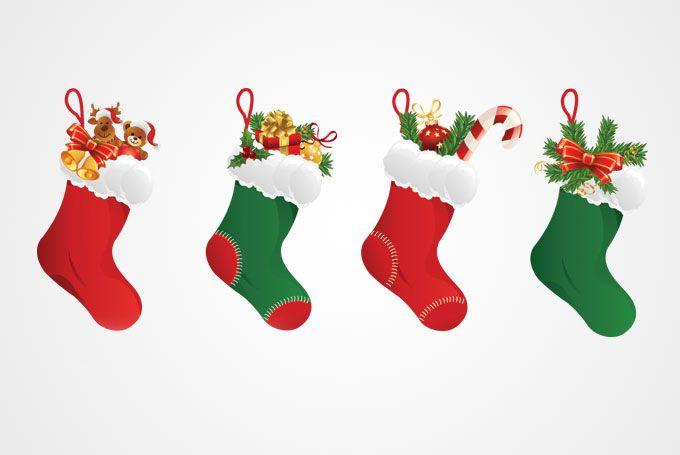 680x455 Free Clip Art Christmas Decorations Christmas Stocking Vector
