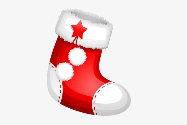 650x434 Hand Painted Christmas Stocking Vector, Hand Painted Christmas