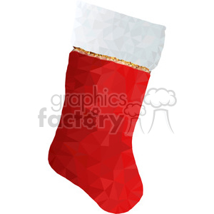 300x300 Royalty Free Christmas Stocking Geometry Geometric Polygon Vector