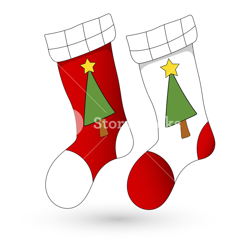 Christmas Stockings Cartoon.Stocking Vector At Getdrawings Com Free For Personal Use