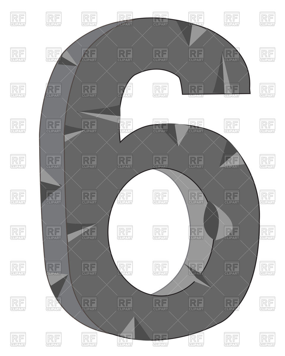 960x1200 Number 6 Made Of Stone Vector Image Vector Artwork Of Signs