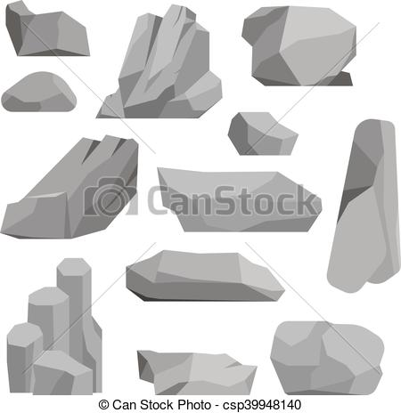450x464 Rocks And Stones Vector Illustration. Stones And Rocks In Cartoon