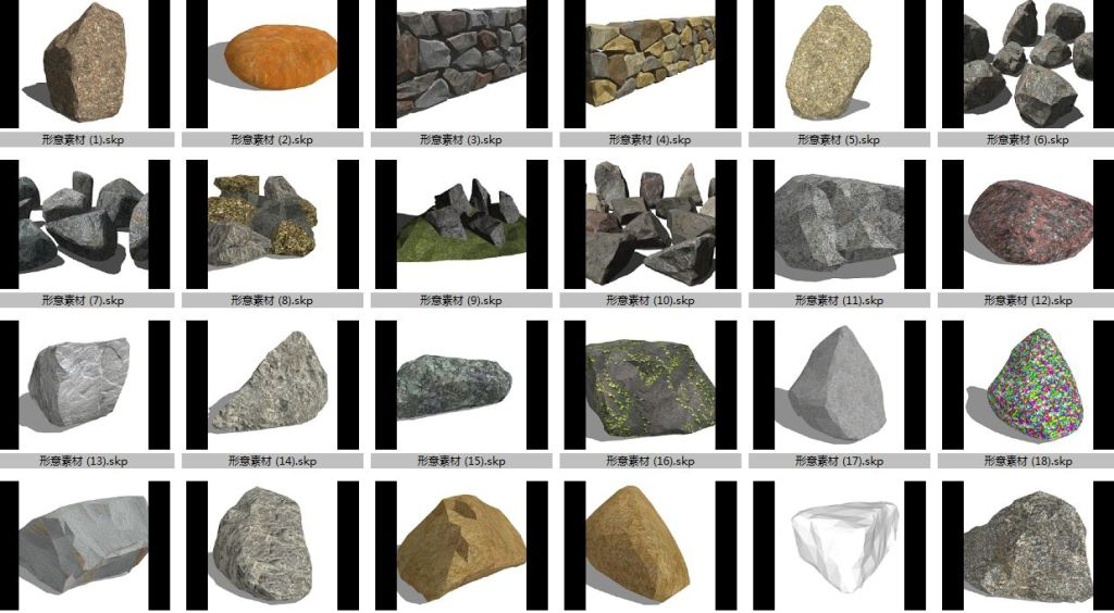 1024x564 Stone Vector Free Download Skp Files