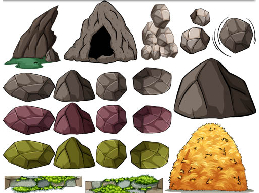 511x380 Stones And Rocks Vector Ai Format Free Vector Download