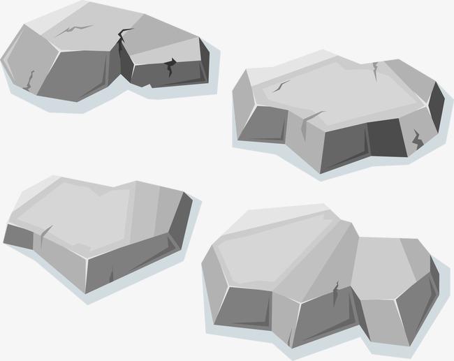650x517 Flat Stones Vector, Vector Gray Stone, Creative Stone Pattern